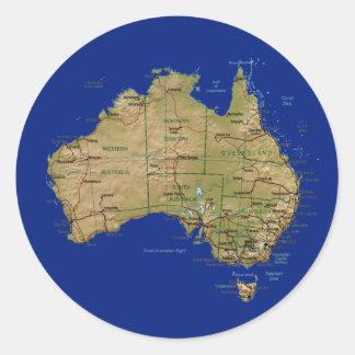 Pegatina del mapa de Australia