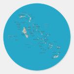 Pegatina del mapa de Bahamas