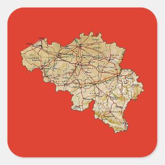 Pegatina del mapa de Bélgica