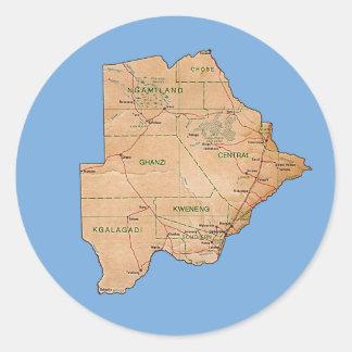 Pegatina del mapa de Botswana