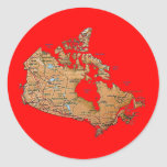 Pegatina del mapa de Canadá