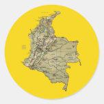 Pegatina del mapa de Colombia