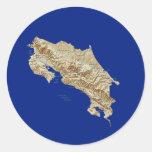 Pegatina del mapa de Costa Rica