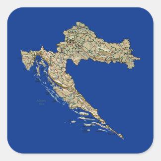 Pegatina del mapa de Croacia