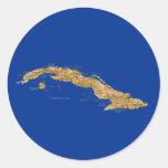 Pegatina del mapa de Cuba