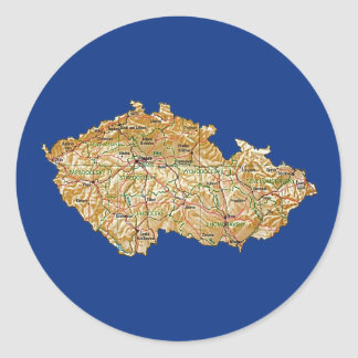Pegatina del mapa de Czechia
