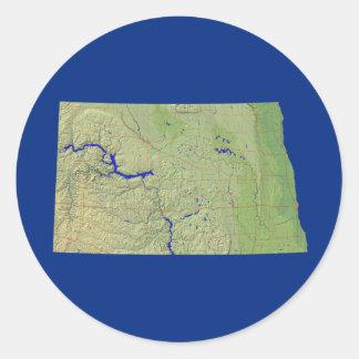 Pegatina del mapa de Dakota del Norte