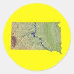 Pegatina del mapa de Dakota del Sur