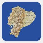 Pegatina del mapa de Ecuador