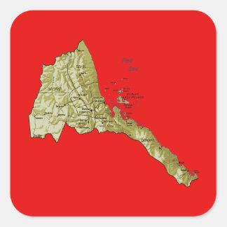Pegatina del mapa de Eritrea