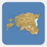 Pegatina del mapa de Estonia