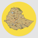 Pegatina del mapa de Etiopía