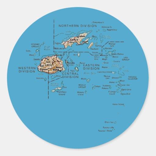Pegatina del mapa de Fiji