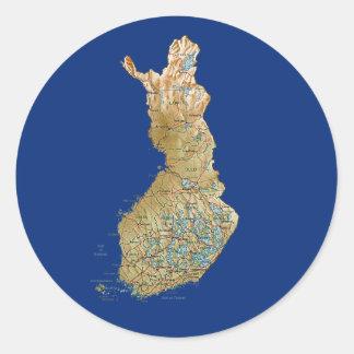 Pegatina del mapa de Finlandia