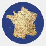 Pegatina del mapa de Francia