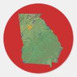 Pegatina del mapa de Georgia