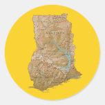 Pegatina del mapa de Ghana