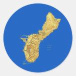 Pegatina del mapa de Guam
