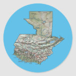 Pegatina del mapa de Guatemala