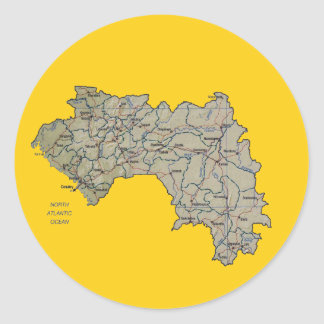 Pegatina del mapa de Guinea-Conakry