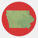 Pegatina del mapa de Iowa