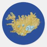 Pegatina del mapa de Islandia