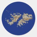 Pegatina del mapa de Islas Malvinas