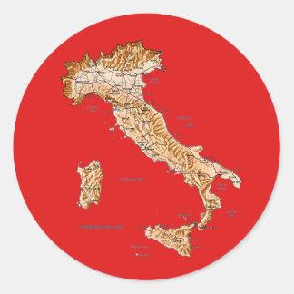 Pegatina del mapa de Italia