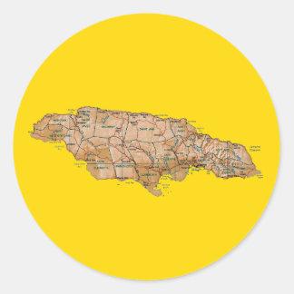 Pegatina del mapa de Jamaica