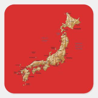 Pegatina del mapa de Japón