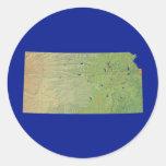 Pegatina del mapa de Kansas