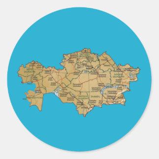 Pegatina del mapa de Kazajistán