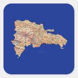 Pegatina del mapa de la República Dominicana