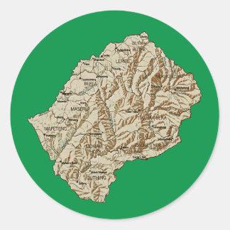 Pegatina del mapa de Lesotho