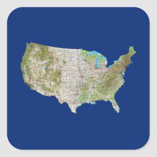 Pegatina del mapa de los E.E.U.U.