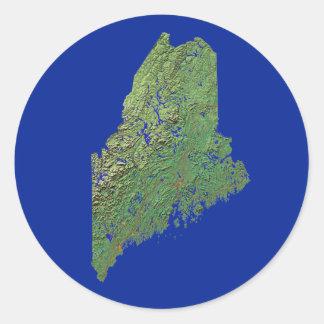 Pegatina del mapa de Maine