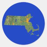 Pegatina del mapa de Massachusetts