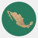 Pegatina del mapa de México