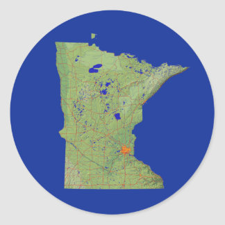 Pegatina del mapa de Minnesota
