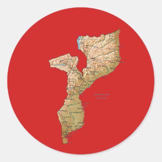 Pegatina del mapa de Mozambique