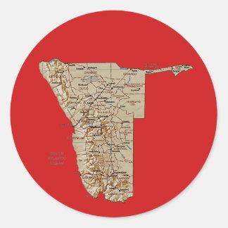 Pegatina del mapa de Namibia