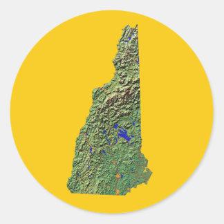 Pegatina del mapa de New Hampshire