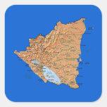 Pegatina del mapa de Nicaragua