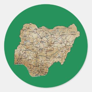 Pegatina del mapa de Nigeria