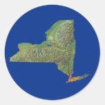 Pegatina del mapa de Nueva York