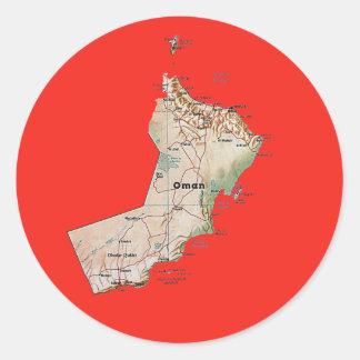 Pegatina del mapa de Omán