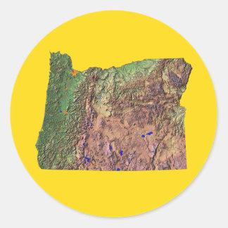 Pegatina del mapa de Oregon