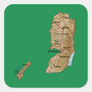 Pegatina del mapa de Palestina