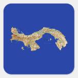Pegatina del mapa de Panamá