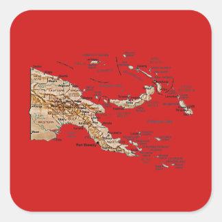 Pegatina del mapa de Papúa Nueva Guinea